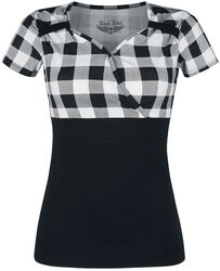 Schwarz/Weißes T-Shirt im Rockabilly Stil