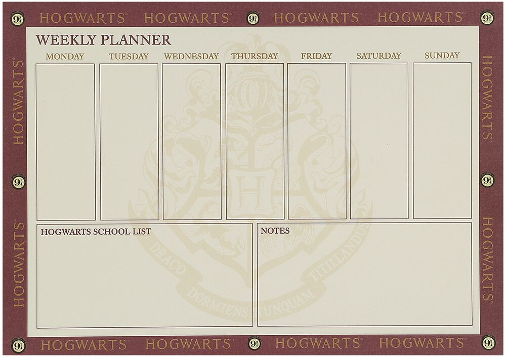 Platform 9 3/4 - Weekly Planner