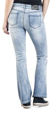 Grace - Hellblaue Jeans mit Waschung und Schlag