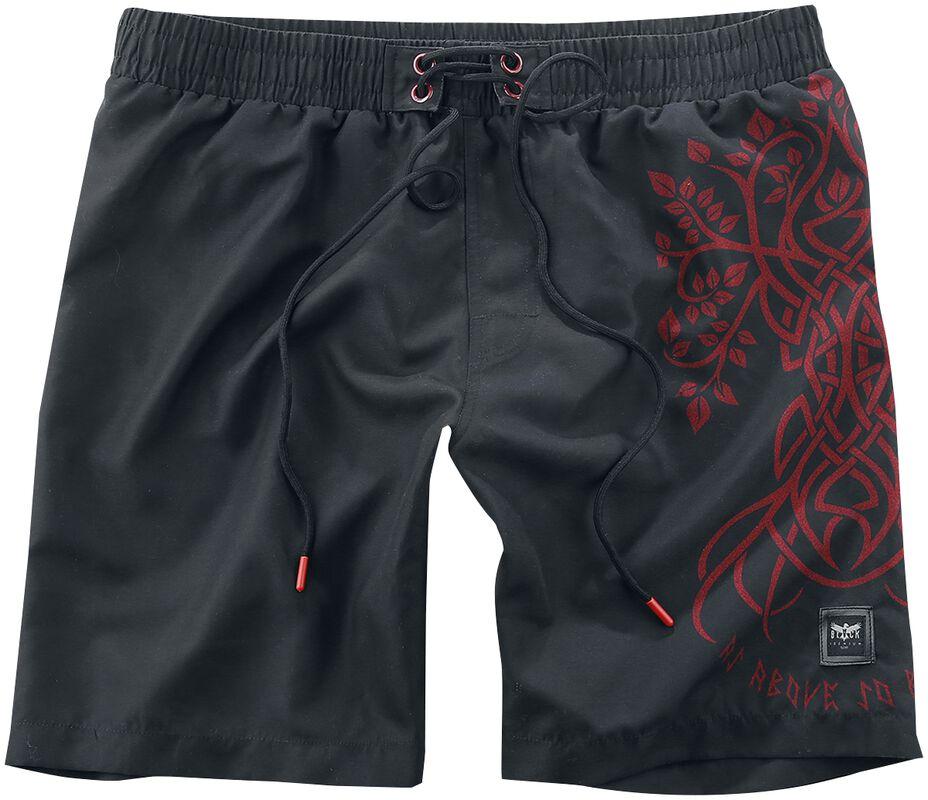Swim Shorts with Celtic Print Black Premium