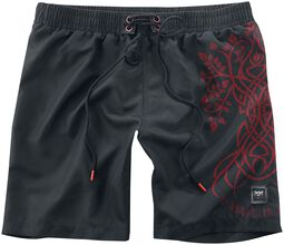 Swim Shorts with Celtic Print Black Premium