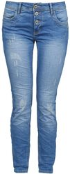 Ladies Button Fly Skinny Fit Denim