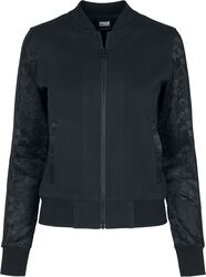 Ladies Lace Bomber Jacket