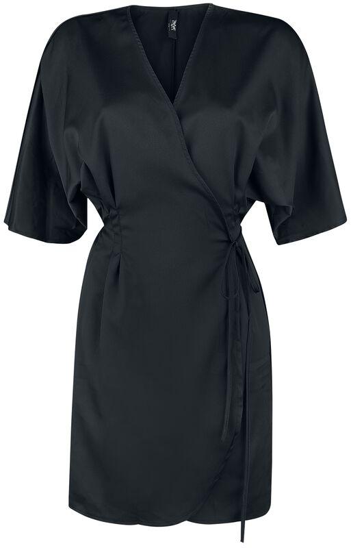 Black Premium Black Wrap Dress