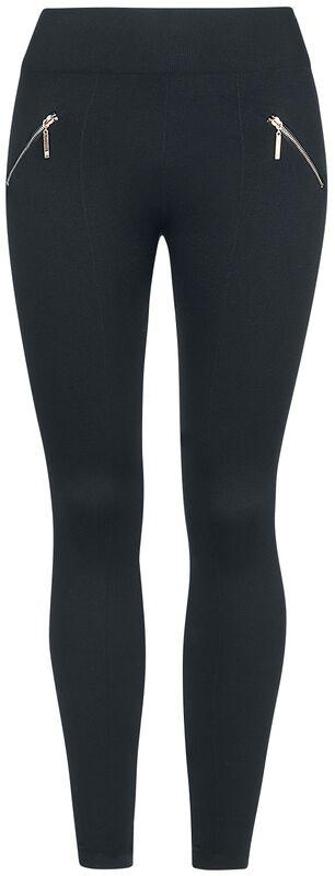 Zip Detail Stretch Leggings