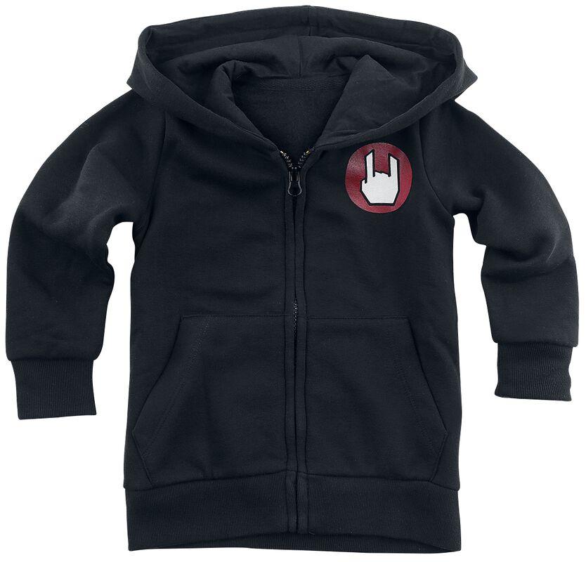 Black Hooded Jacket with Logo