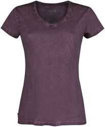 Purple T-shirt with V-neck