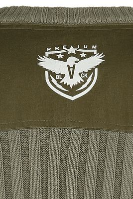 Wide-Ribbed Sweatshirt in Olive