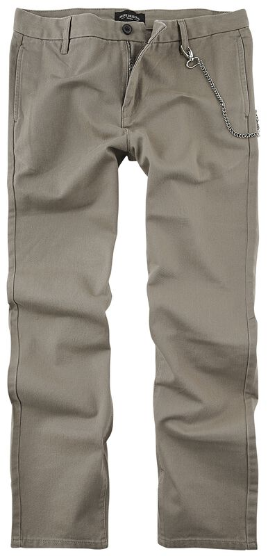 Cropped Loose Fit Twill Trousers