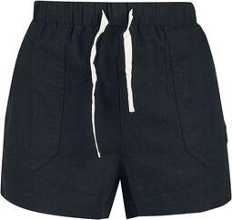 Short Black Shorts with Lacing