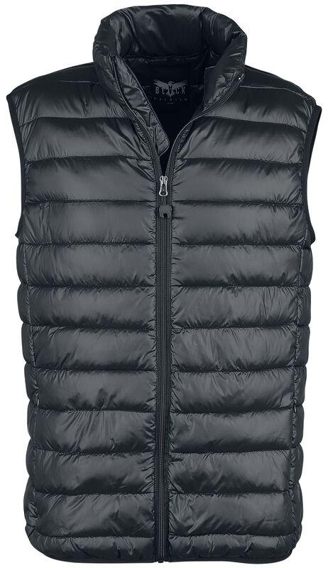 Black Premium Black Quilted Vest