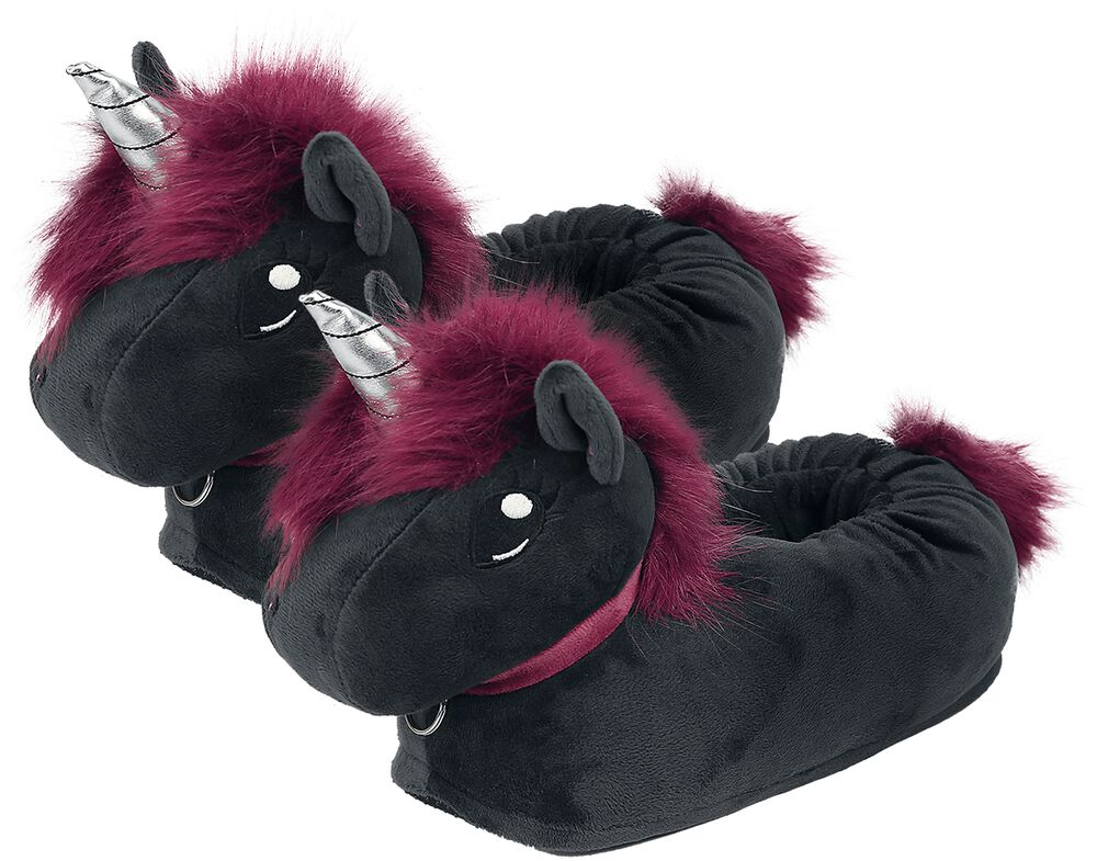 Ruby Punk Unicorn Adults' Slippers
