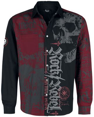 Black/Red Shirt with Print