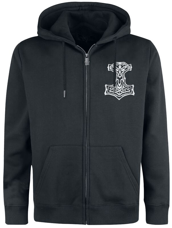 Hooded Jacket with Prints
