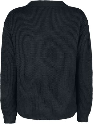 Knitted Front Laced Sweater