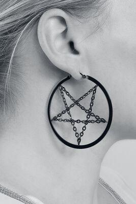 Pentagram Chain Hoops