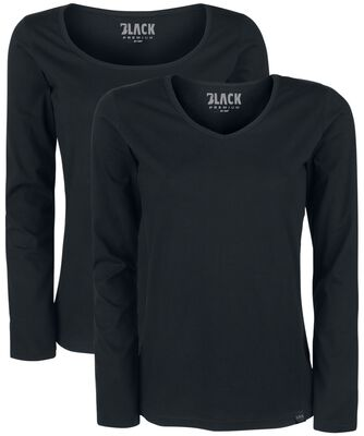 Black Longsleeve with Crew Neckline