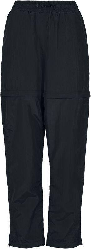 Ladies Shiny Crinkle Nylon Zip Trousers