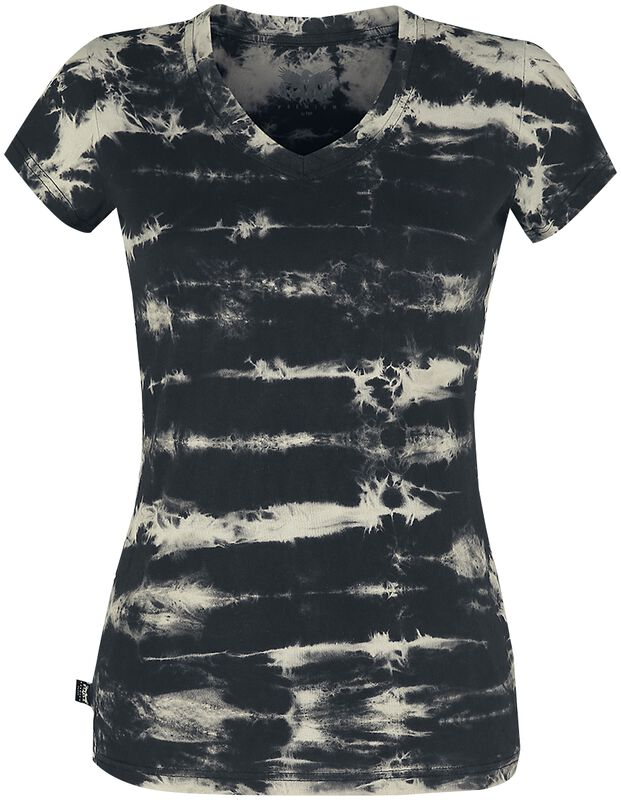 Black Premium Batik-Look T-shirt