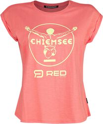 RED X CHIEMSEE - Pink T-shirt with Print