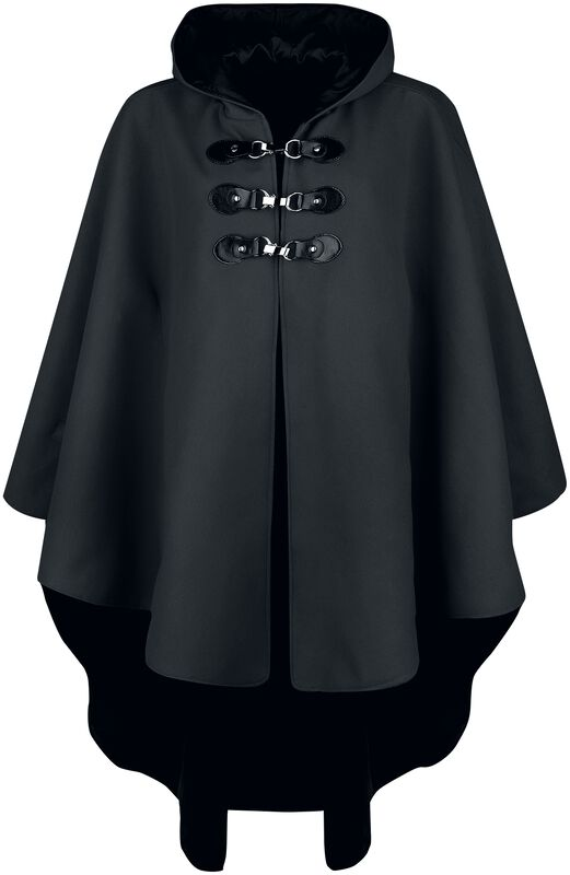 Black cape with hood