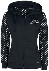 Stay Safe Dotties Mask Hooded Zip-Jacket