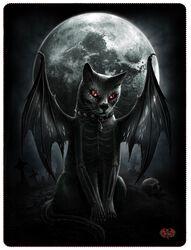 Vamp Cat Fleece Blanket