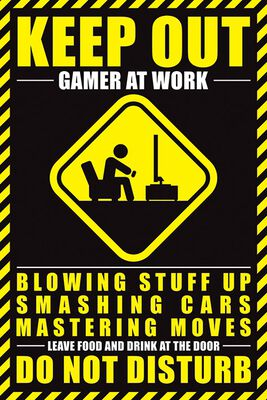 Gamer At Work Keep out
