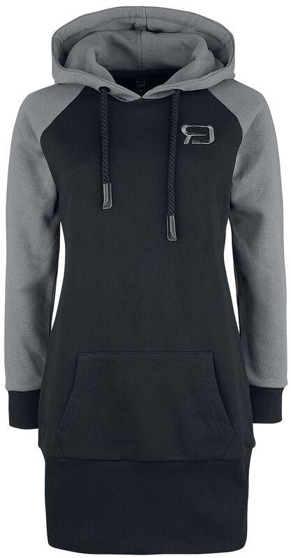 Black/grey hooded dress