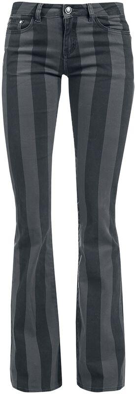Grace - Black/Grey Striped Trousers