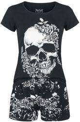 Roses and Skulls Pyjama