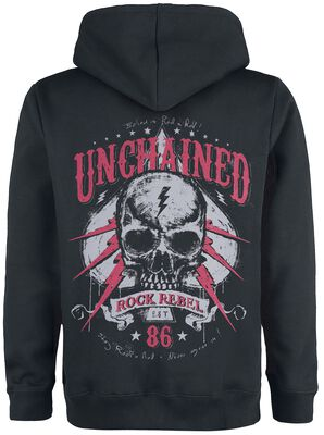 Hooded Jacket with Skull Prints