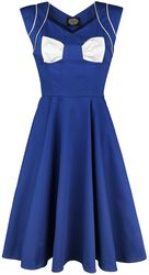Blue White Bow Lady Hepburn Dress