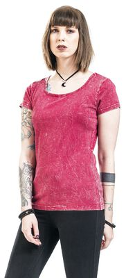 Pink T-Shirt with Crinkle Wash