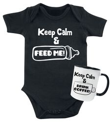 Keep Calm Baby Romper + mok