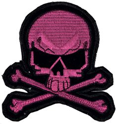 Small Pink Skull Patch