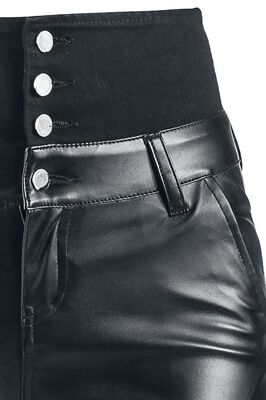 High Waist Imitation Leather Trousers