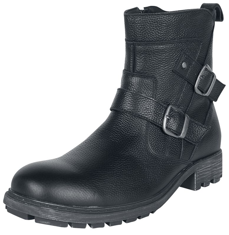 Black Leather Boots with Buckles