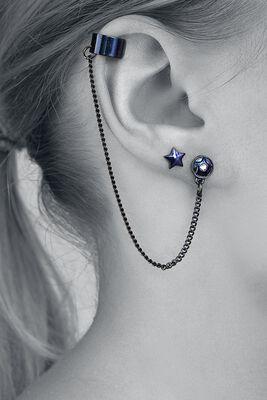 Planet Star Moon Ear Cuffs
