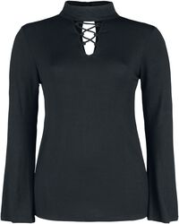 High Neck Front Laced Longsleeve
