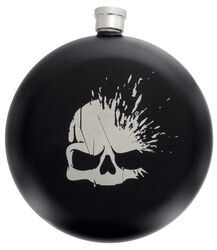 Skull Logo - Hip Flask