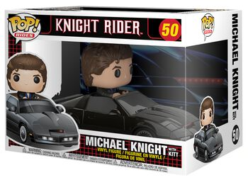 Michael Knight with KITT Pop Ride Vinylfiguur 50