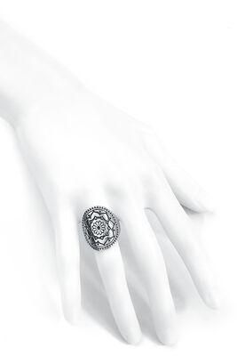 Silver Mandala Flower Ring