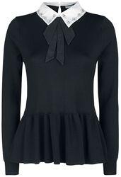 Bling Collar Peplum Sweater
