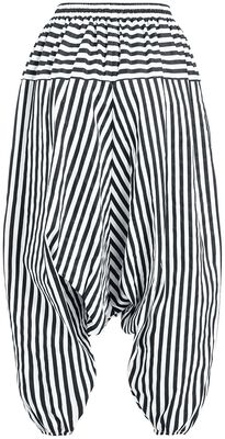 Harem trousers with stripes
