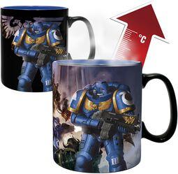 Ultramarine and Black Legion - Heat-Change Mug