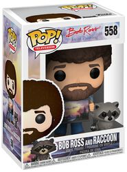 The Joy of Painting - Bob Ross and Raccoon (kans op Chase) Vinylfiguur 558
