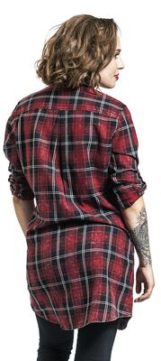 Long checked shirt