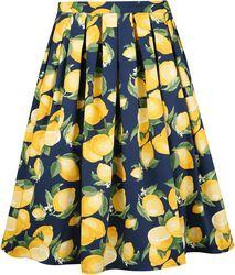Lemon Pleat Skirt