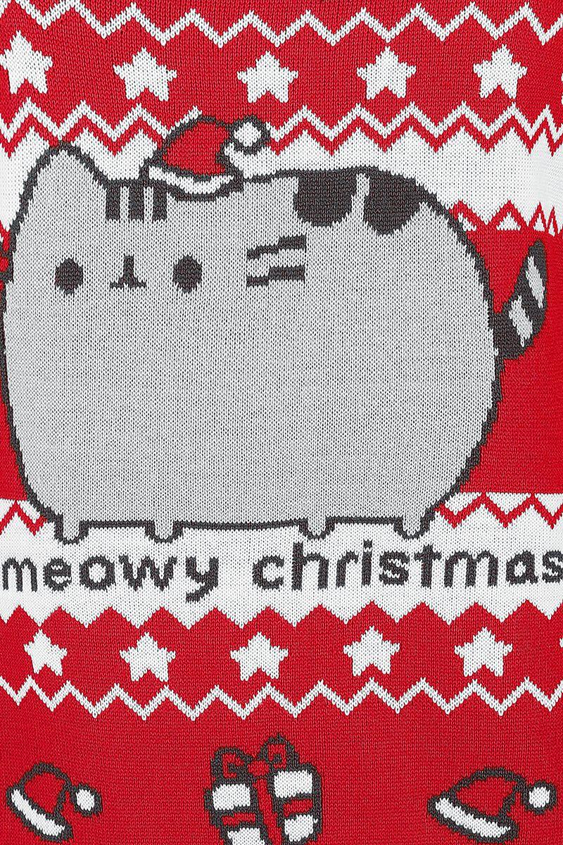 Meowy Christmas | Pusheen Christmas jumper | Large